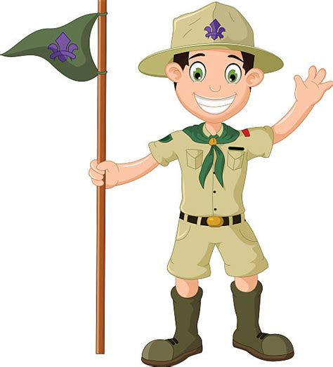 clipart scout boy scout clip vector images illustrations istock