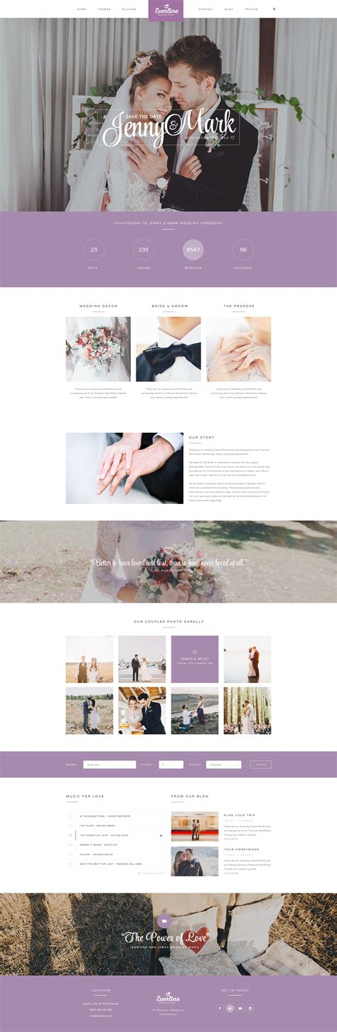 everline wedding joomla template by templaza themeforest