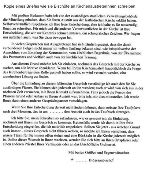 Vorlage Austritt Aus Kirche Kirchlich Katholisch Staatlich Bekenntnisfrei Atheismus
