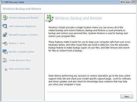 reset software center vaio recovery software tool mod2wim