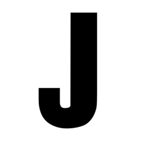 Black Letter Dictionary Solid Capital J
