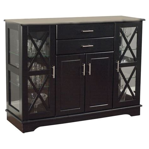 dining room buffet with glass doors black wood buffet dining room sideboard with glass doors home storage ideas wood