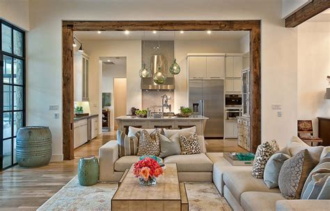 Home Interiors A Contemporary Home With Rustic Elements Connects To Its