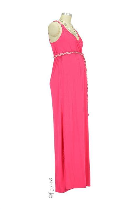 Dress Sofia Grey Maxi sofia maxi maternity dress in coral by everly grey