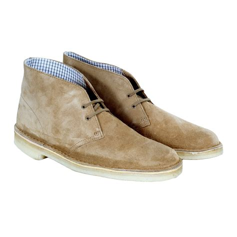 suede mens shoes in oakwood colour by clarks originals