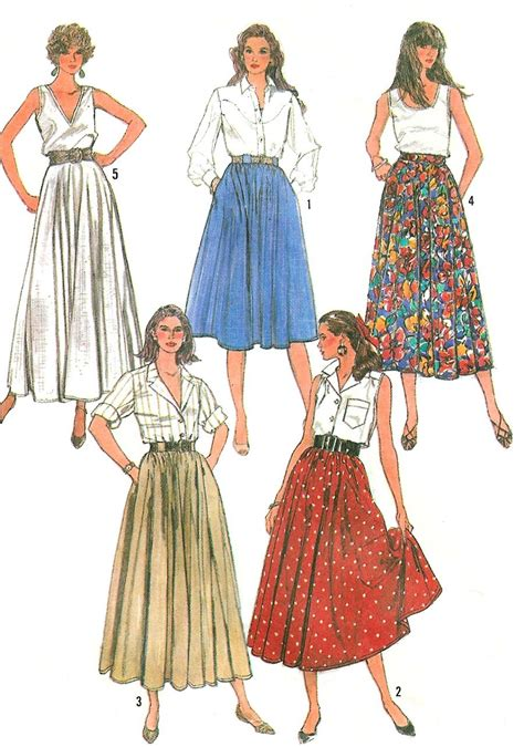 pattern for simple gathered skirt easy circle skirt sewing pattern 12 16 full gathered long