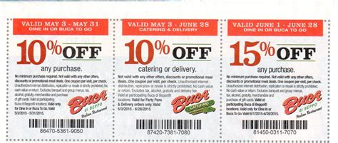 Buca Gift Card Discount - buca di beppo coupons promotions specials for february 2018