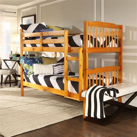 elise bunk bed elise bunk bed honey pine best selling products at walmart