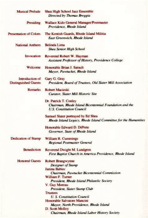 Wedding Ceremony Schedule by Event Schedule Page Of Day Ceremony Program Rhode