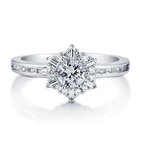 cut cz 925 sterling silver snowflake fashion ring sz