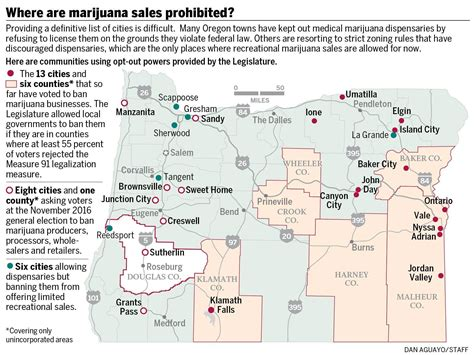 map of oregon dispensaries pot won t be for sale in many oregon cities oregonlive