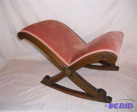 Rocking Stool Back by Vintage Wood Rocking Footstool Gout Stool Mid Century