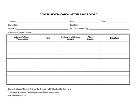 record form template attendance record template exle mughals