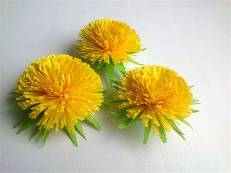 How To Make Paper Quilling Flowers - how to make quilling flower quilling dandelion paper