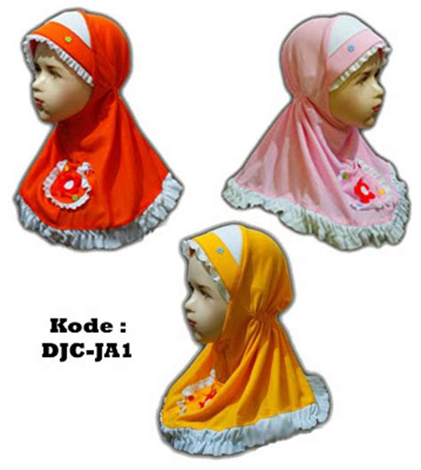 Kerudung Anak Jilbab Kaos Serut Sekolah Anak Kecil Sd Lucu Bagus Murah distro jilbab cantik jilbab anak