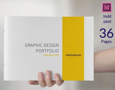 Graphic Design Portfolio Template On Behance Best Design Portfolio Templates