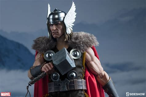 thor s bring the thunder with sideshow s thor sixth scale figure