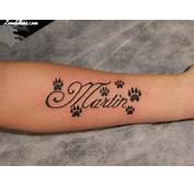 Tatuaje De Nombres Mart&237n Huellas