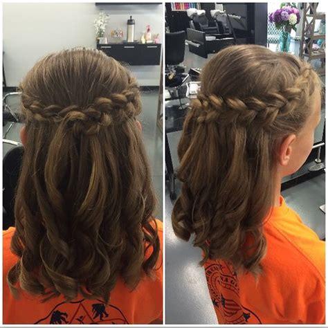 braided half up waterfall kids hair ideas pinterest kids half up and half down for a wedding balayage