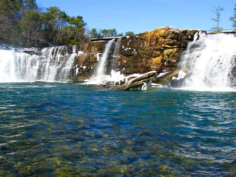 waterfalls rock coast  river canyon falls alabama