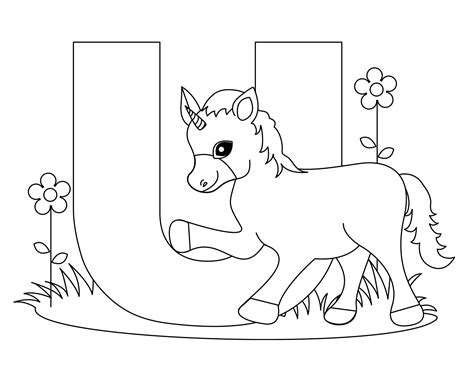 coloring pages of letter u free printable alphabet coloring pages for kids best