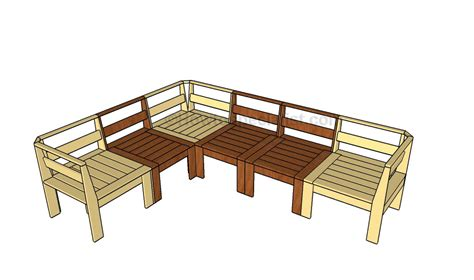 diy outdoor sectional plans corner outdoor sectional plans howtospecialist how to