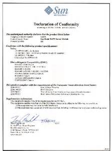 Statement Of Conformity Template by Declaration Of Conformity