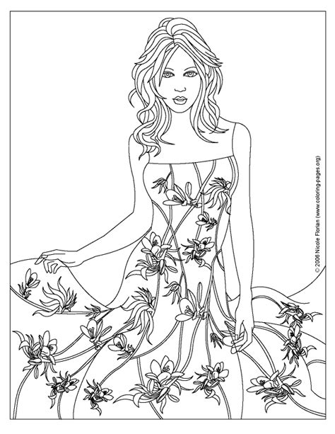 girl model coloring page fashion coloring pages to print coloring home