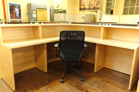 baldwin glass top maple reception desk peartree office