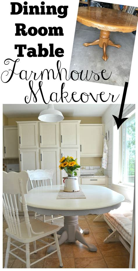 Diy Dining Room Table Makeover Dining Room Table Farmhouse Makeover Vintage Nest
