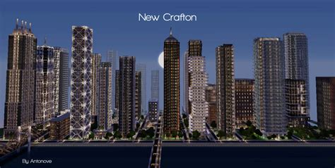 modern city new crafton a detailed modern city finished minecraft