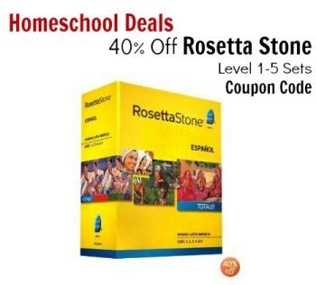 rosetta stone promo 20 new homeschool resources freebies deals and more for