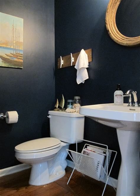Nautical Themed Half Bath Makeover ? Tag & Tibby