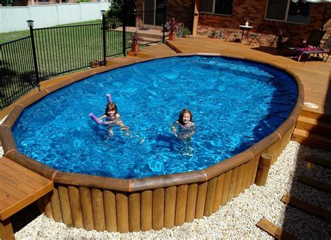 Exterior: Endearing Blue Round Hard Plastic Swimming Pools