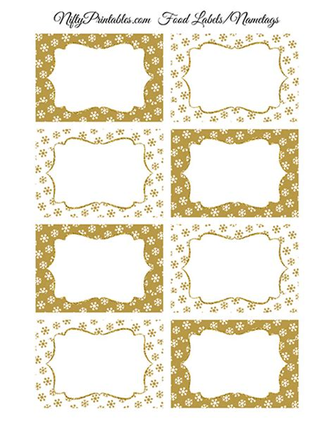 printable gold snowflakes gold snowflakes holiday labels favor tags nifty printables