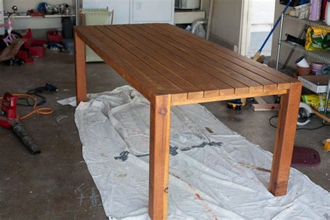 diy table legs 4x4 i like this 2x4 table with 4x4 legs diy