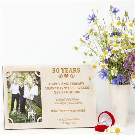 Wedding Anniversary Gift Stores by 30th Wedding Anniversary Personalised Photo Frame By