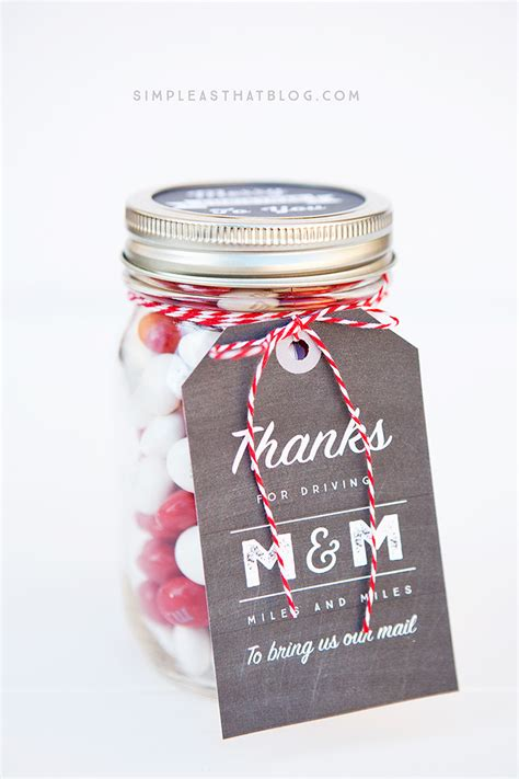 easy to mail christmas gifts simple jar gifts with printable tags