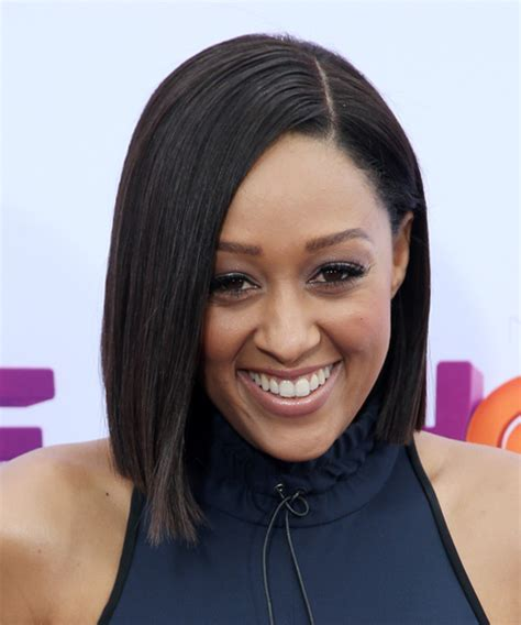 tia haircut 2014 medium tia mowry medium straight formal bob hairstyle dark brunette