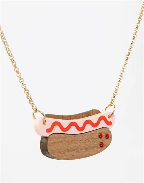 puppy necklace lyst tatty necklace in brown