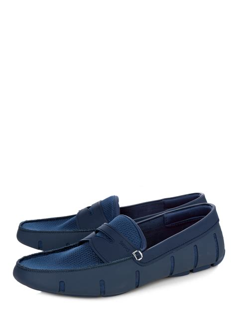 swims loafer swims loafers in blue for navy lyst