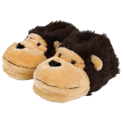 monkey slippers mens slippers soft warm fluffy novelty monkey