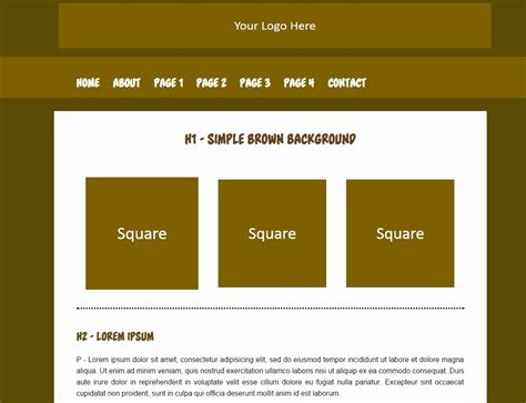 Basic Html Templates Simple Html Templates Free
