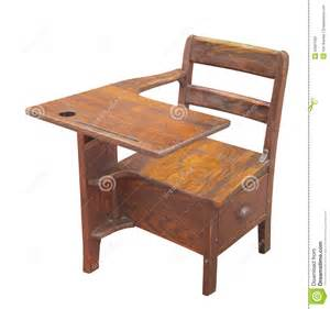 white school desk wooden school desk isolated royalty free stock images
