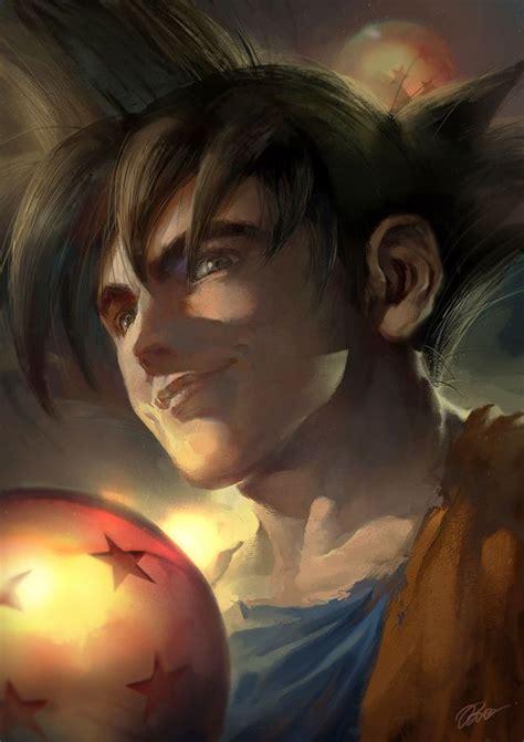 realistic dragon ball  fan art   kinda creepy