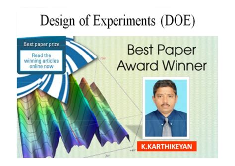 design experiment application application of design of experiments doe using dr