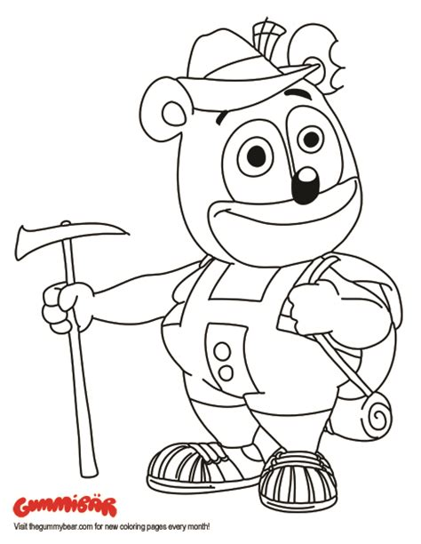 gummy coloring pages a printable gummib 228 r august 2016 coloring page http www thegummybear 2016 08
