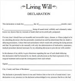 free printable living will template living will template 8 free documents in pdf