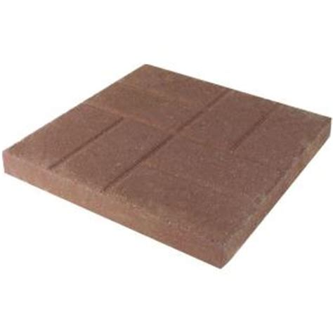 decorative stepping stones home depot oldcastle brickface 16 in x 16 in tan concrete step