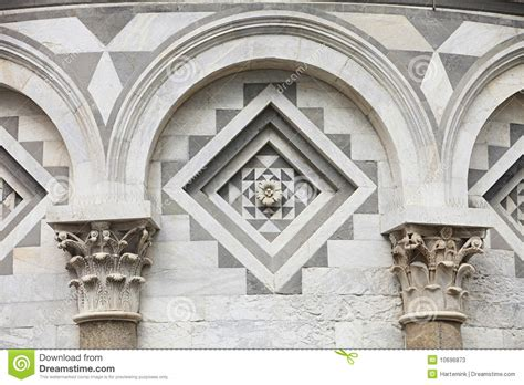 architectural detail of the leaning tower of pisa stock image image of romanesque renaissance